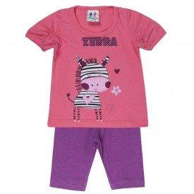 conjunto menina papoula silk zebra com legging 197 00542
