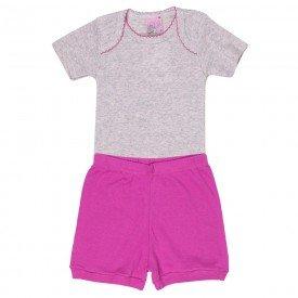 conjunto body rosa e short pink 1323 5933