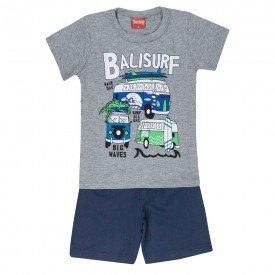 conjunto camiseta mescla balisurf e bermuda 4337 3940