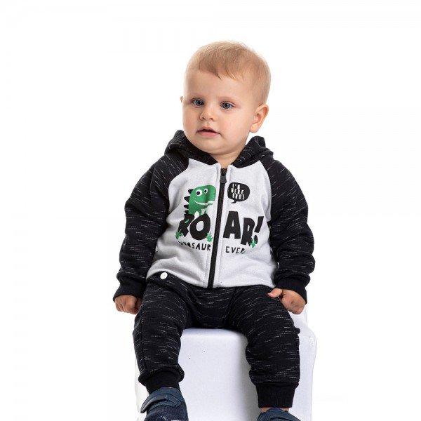 conjunto bebe masculino jaqueta e calca saruel cinza preto 4871