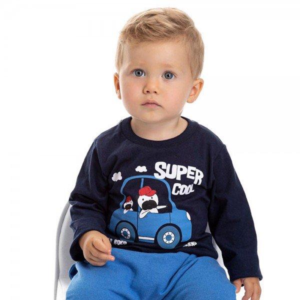 camiseta bebe masculina super cool marinho 4882 9770