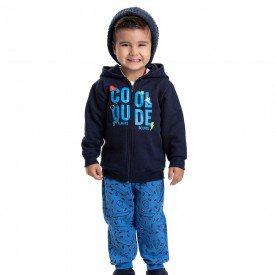 conjunto infantil masculino jaqueta cool dude com capuz e calca marinho azul palacio 4889 9779