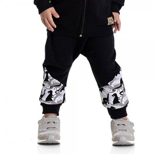 calca infantil masculina saruel dino preta 4899 9795