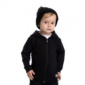 jaqueta infantil masculina moletom e matelasse preto 4898 9794