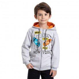 jaqueta infantil masculina skate moletom cinza claro 4922 9830