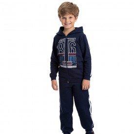conjunto infantil masculino jaqueta sport com capuz e calca marinho 4910 9811