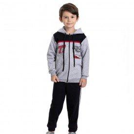 conjunto infantil masculino jaqueta athletic com capuz e calca preto 4907 9808