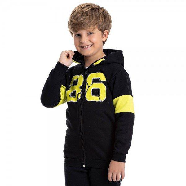 jaqueta infantil masculina 86 moletom preto 4918 9826
