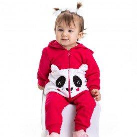 conjunto bebe feminino jaqueta e calca pelo pink 4810 9844