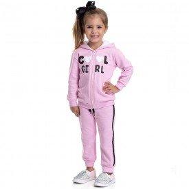 conjunto infantil feminino jaqueta e calca cool girl rosa claro 4818 9848