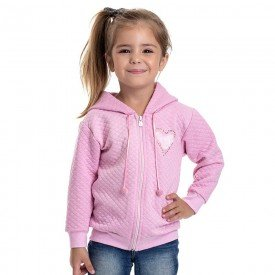 jaqueta infantil feminina matelasse rosa claro 4823 9855