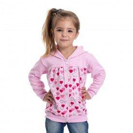 jaqueta infantil feminina moletom rosa claro 4832 9866