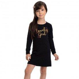 vestido infantil feminino molecotton lovely girl preto 4853 9899