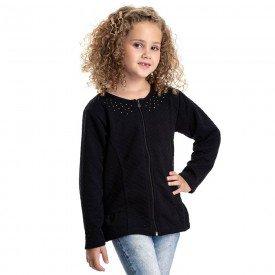 jaqueta infantil feminina matelasse preto 4844 9884