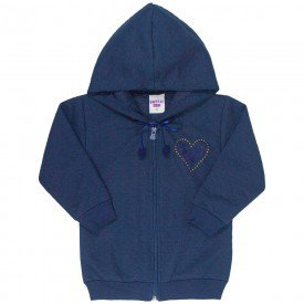 jaqueta infantil feminina matelasse azul marinho 4823 9857