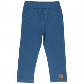 legging infantil feminina cotton jeans azul claro 4830 4946 9864