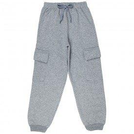 calca infantil masculina basica moletom mescla 4920 9829
