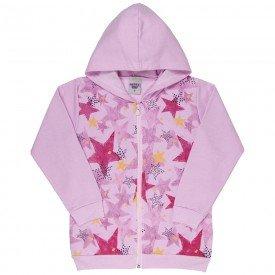 jaqueta infantil feminina estrelas rosa claro 4847 9891