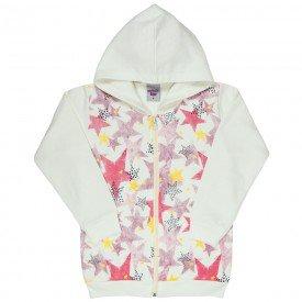 jaqueta infantil feminina estrelas marfim 4847 9892