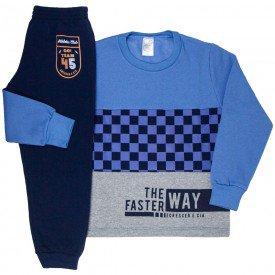 conjunto infantil masculino moletom way azul cobalto e marinho 9246 9236 8461
