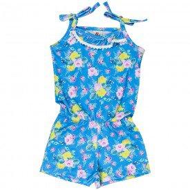 macaquinho floral de alcinha azul 121074 5085