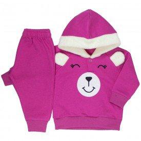 conjunto bebe feminino moletom ursinho pink kw008 9920