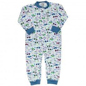 macacao infantil masculino carros moletinho branco azul kw706 9948