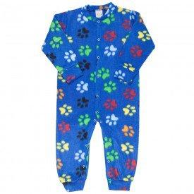 macacao infantil masculino pegadas soft azul kw707 9950