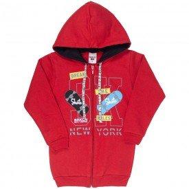 jaqueta infantil masculina skate moletom vermelho 4922 9832