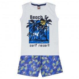 conjunto regata praia branca e bermuda azul royal 121032 5021
