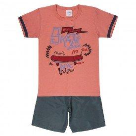 conjunto camisa skate cosmetic com bermuda 4076 5221