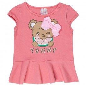 blusa de cotton rosa yummy com laco 1117 3535