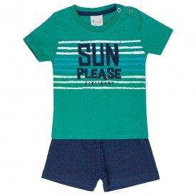 conjunto bebe menino sun verde marinho kw403 9403