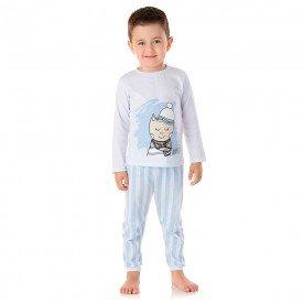 pijama infantil masculino meia malha winter branco 1359 3