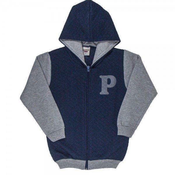 jaqueta infantil masculina matelasse e moletom marinho mescla 4916
