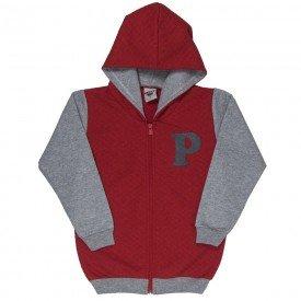 jaqueta infantil masculina matelasse e moletom vermelho mescla 4916