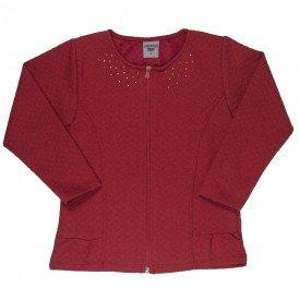 jaqueta infantil feminina matelasse vermelho 4844