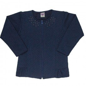jaqueta infantil feminina matelasse marinho 4844