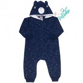 macacao bebe masculino com capuz de ursinho marinho 4879 9764