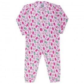 macacao infantil picole suedine rosa kwbarrichelo 9989