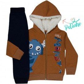 conjunto infantil masculino jaqueta monster mostarda marinho kw504 9924
