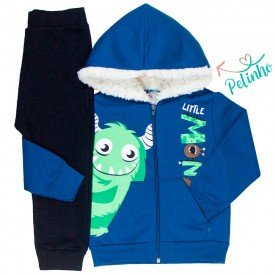 conjunto infantil masculino jaqueta monster indigo preto kw504 9928 3