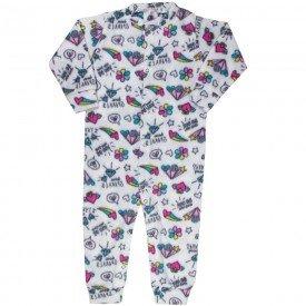 macacao infantil feminino abstrato soft branco kw307 9992
