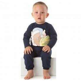 pijama bebe menino meia malha ursinho marinho 1347 10007