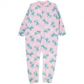 macacao infantil feminino raposa soft rosa kw307 10043