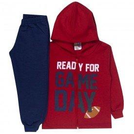 conjunto infantil menino jaqueta capuz game vermelho marinho 1723 10035