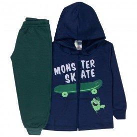 conjunto infantil menino jaqueta capuz skate marinho verde musgo 1724 10037