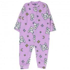 macacao bebe menina gato soft lilas kw305 10046