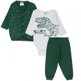 trijunto body branco e calca e cardigan dinossauro t rex 347 9724
