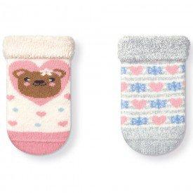 kit 2 pares meias soquete soft recem nascido menina t1084 15 10061